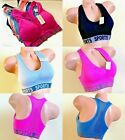SPORTS BRAS 6 OR 3 BRA YOGA ACTIVE WEAR SEXY Seamless STRAPPY RACER BACK S-2XL