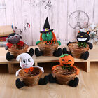 Doll Fruit Decoration Bowl Halloween Ghost Candy Basket Home Decor Hand Woven l