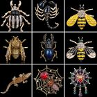 Charm Crystal Animal Insect Spider Cobweb Bee Brooch Pin Women Costume Jewelry