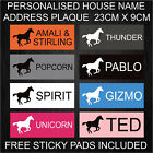 Personalised Horse Stable Door Name Plaque Plastic Sign Xmas Gift Present -ARIAL