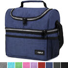Insulated Lunch Bag For Men Women Thermos Cooler Adults Tote Leakproof Lunch Box