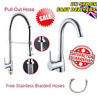 Modern Kitchen Tap Chrome Faucet Spray Sink Basin Mixer Pull Out Hose Fittings