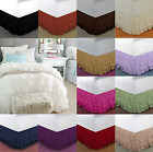 "1pc SOLID PLAIN DUST RUFFLE BED SKIRT 20"" INCH DROP GYPSY Multi LAYERS Easy Fit  image"