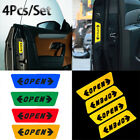 4pcs/set Car Door Opening Warning Safety Tips Reflective Sticker Decal Sign~~~