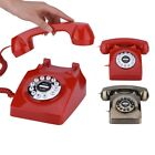 Vintage Antique Telephone Retro Rotary Dial Numbers Storaged Landline Telephone
