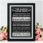 Wedding Dance Floor Rules Signs Rules of the Dancefloor DJ Band Music Chalkboard
