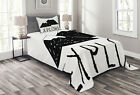 Adventure Quilted Bedspread & Pillow Shams Set, Explore Wild Forest Print