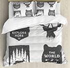 Quotes Duvet Cover Set with Pillow Shams Stay Wild and Wander Print