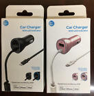 LOT of (10) AT&T USB & Corded Lightning Car Chargers - iPhone, iPad, iPod- SALE!