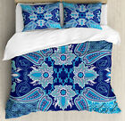 Persian Duvet Cover Set with Pillow Shams Eastern Moroccan Design Print image