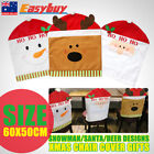 New Christmas Chair Covers Santa Clause Snowman Deer Hat Home Decor Ornaments AU
