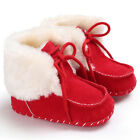US Winter Child Kids Baby Girls Boys Warm Leather Snow Boots Fur Shoes Sneakers