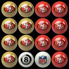 NFL Billiard Ball Set - The Ultimate San Francisco 49ers Fan Pool Table Ball Set $387.62 USD on eBay