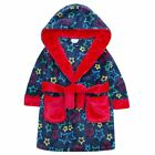 Boys Childrens Dressing Gown Novelty Hooded Super Soft Coral Fleece 2-6 years