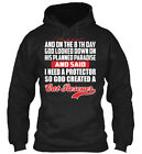 God Created A Cat Rescuer On The 8th Day - And 8 Looked Gildan Hoodie Sweatshirt
