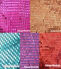 Red Blue Bling Sparkle Sequins Home Deco Sew Hand Crafting Cloth Fabric 1Yard
