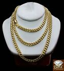 10k Gold 5mm Miami Cuban Link Chain Necklace Length 20-26 Inch Men Women &Real