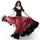 Внешний вид - Flamenco Modern Dance Swing Skirt Ruffle Elastic Waist Ballroom Costume Slim New