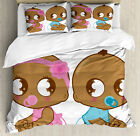 Kids Duvet Cover Set with Pillow Shams African American B...