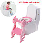 Cute Kids Potty Training Seat with Step Stool Ladder Child Toddler Toilet Chair image