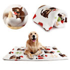 Warm Puppy Dog Cat Blanket Soft Fleece Pet Mat Bed Cover Cushion Christmas Gift