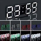 LED Digital Large Big Jumbo Snooze Wall Room Desk Calendar Alarm Clock Display B