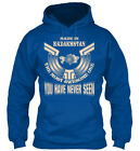 Unique Made In Kazakhstan Funny Gift - The Most Awesome Gildan Hoodie Sweatshirt