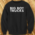 BIG BOY 4X4 TRUCKS TRUCK OFF ROAD SEMI VINTAGE Mens Black Sweatshirt