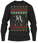 In style Boxing Ugly Christmas Sweater Gildan Gildan Long Sleeve Tee T-Shirt
