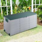 Outdoor Storage Box Outside Patio Deck Lockable Large 79 Gal Dock Pool Bench OY