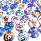 50Pcs/lot Christmas Style DIY Wood Button 2 Holes Mixed Apparel Sewing Accessory