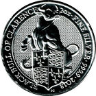 2oz Queen´s 2016 - 2018 - Lion, Griffin, Red Dragon, Unicorn, Black Bull