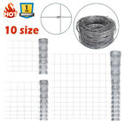 10Size 50m Garden Fence Galvanized Wild Fence Durable Iron Wire Small Big Animal