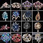 Vintage Rhinestone Crystal Flower Wedding Bridal Bouquet Brooch Pin Jewelry Gift image