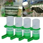 US 4pc Pet Bird Cage Water Drinker Food Feeder Waterer Clip Set For Aviary Cage