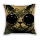 Cat Square Home Sofa Bed Decor Waist Cushion Throw PillowCase Cover Pillow Slip