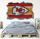 Kansas City Chiefs Wall Art Decal 3D Smashed Football Kids Wall Decor WL164 $36.95 USD on eBay