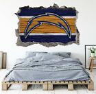 Los Angeles Chargers Wall Art Decal 3D Smashed Football Kids Wall Decor WL165 $24.95 USD on eBay