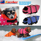 Wave Point Dog Life Jacket Pet Safety Float Vest Swimming Preserver Hound Saver
