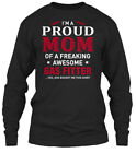 Must-have Gas Fitter - I'm A Proud Mom Of Gildan Long Sleeve Tee T-Shirt