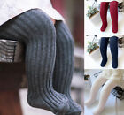 Внешний вид - Baby Toddler Girls Cable Knit Tights Non-slip Socks Stockings Cotton Pants 1-5T