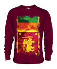 SRI LANKA GRUNGE FLAG UNISEX SWEATER TOP SRI LANK? FOOTBALL LANKAN GIFT SHIRT image
