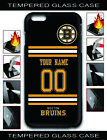 NHL Boston Bruins Personalized Name/Number iPhone Tempered Glass Case 162509 $15.99 USD on eBay