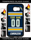 NFL Los Angeles Chargers Custom Name/Number Samsung Tempered Glass Case151606 $15.99 USD on eBay