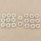 10pcs Pearl Flower Rhinestone Buttons Sewing Handbags Scrapbooking Craft DIY