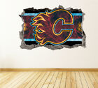 Calgary Flames Wall Art Decal Hockey Team 3D Smashed Wall Decor WL09 $70.0 USD on eBay