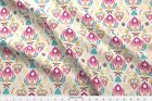 Tulip Damask Rhombus Floral Nature Abstract Fabric Printed by Spoonflower BTY