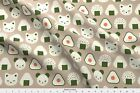 Onigiri Rice Balls Japanese Food Food Cats Fabric Printed by Spoonflower BTY