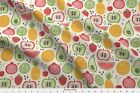 Fruits Lemon Lime Watermelon Strawberry Fabric Printed by Spoonflower BTY