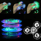 8830 Crystal Led Light Fidget Spinner Rainbow EDC Hand Toy Stress Finger Spinner